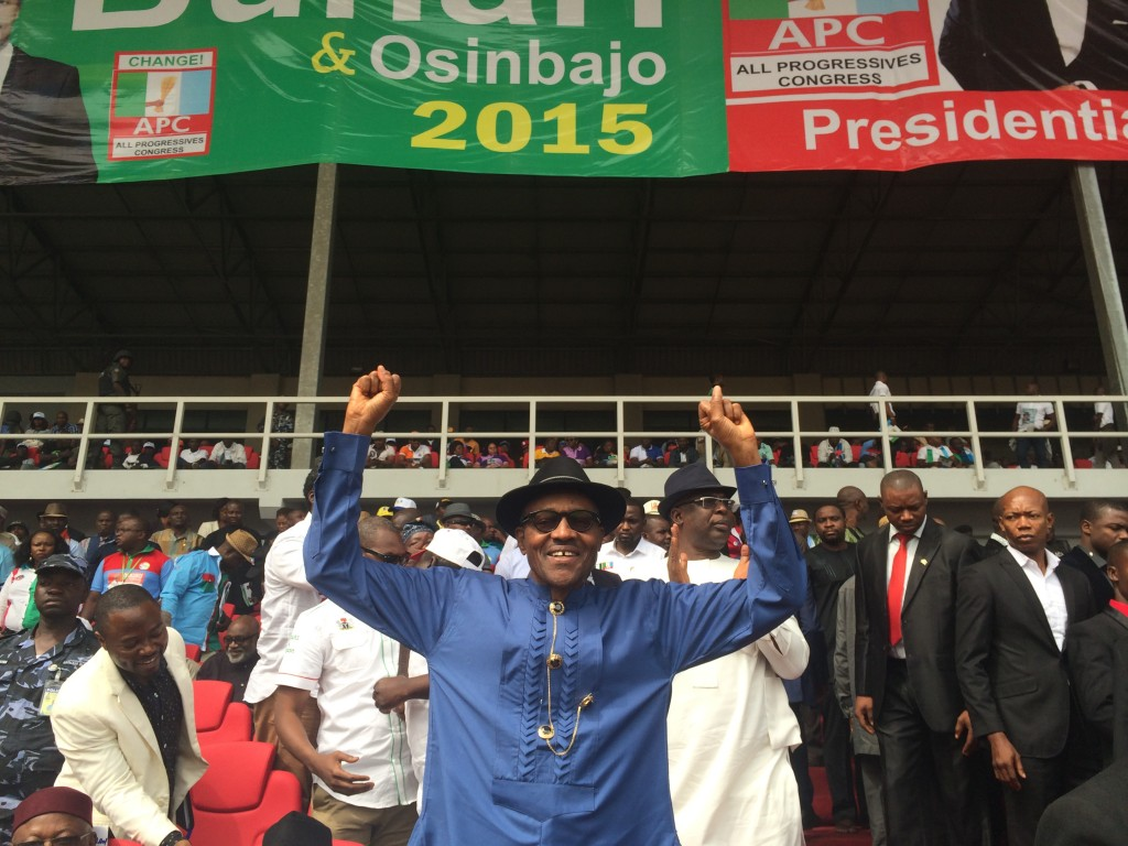 Muhammadu Buhari at the APC rally