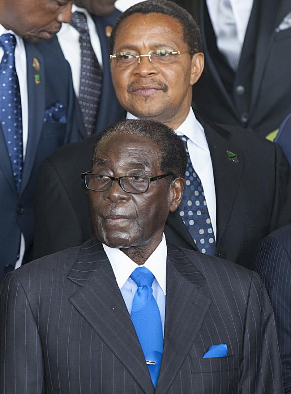Robert Mugabe, president of Zimbabwe, is seen at the opening ceremony of the 24th Heads of State meeting at the African Union in Ethiopian capital Addis Ababa, on January 30, 2015 (AFP Photo/Zacharias Abubeker)
