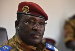 A picture taken on November 6, 2014 shows Burkina Faso's Prime Minister Isaac Zida during a press conference in Ouagadougou (AFP Photo/Issouf Sanogo)