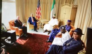 US secretary of state, John Kerry, meets  Gen. Buhari and APC Leadership