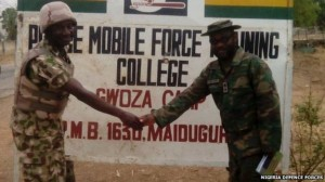The armed forces also recaptured a police training base near Gwoza