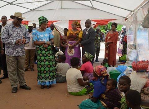 Malawi President Visiting a Flood Camp