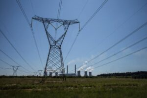 A power company by South African state-owned Eskom, in Witbank, South Africa, on February 5, 2015 (AFP Photo/M