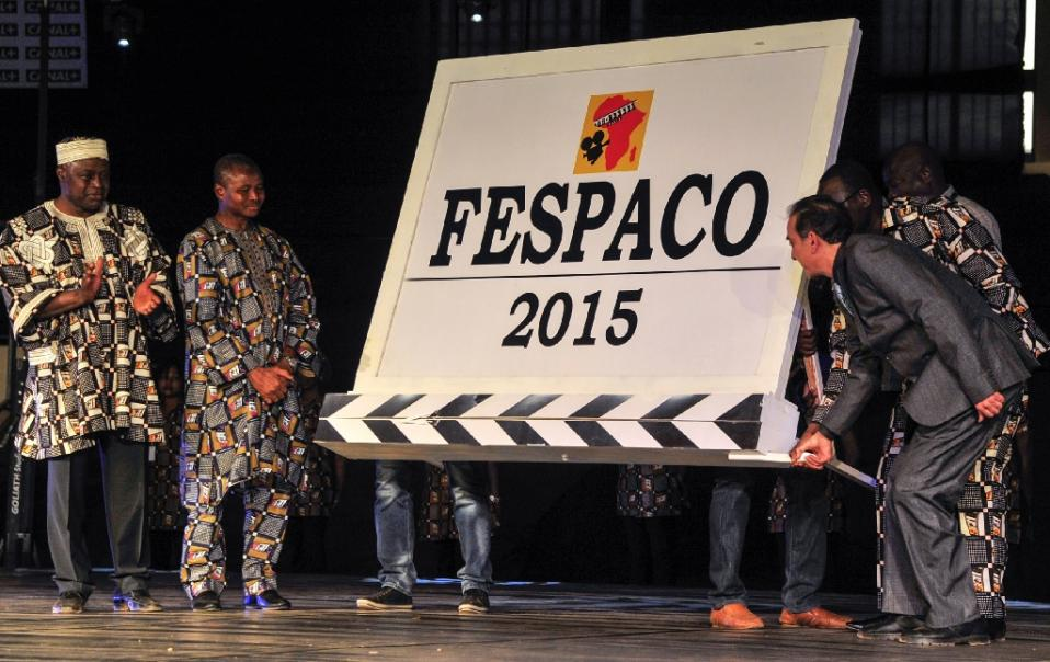 Delegates of FESPACO look as Prime Minister Isaak Zida (right) launches the 2015 Pan-African Film and Television Festival at Ouagadougou (Fespaco) in Ouagadougou on February 28, 2015 (AFP Photo/Ahmed Ouoba)