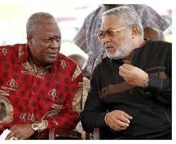 Jerry Rawlings and President John Dramani Mahama