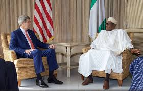 APC's Buhari with US Sec of State John Kerry in Nigeria