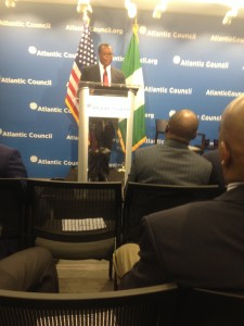 Ambassador Ayodele Oke,Director General of Nigerian National Intelligence Agency at the Atlantic Council