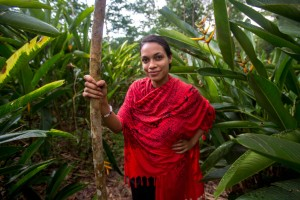 "This stick gave me a little stability while walking through the farm in the rain in the central region of Ghana,"" says Rosario Dawson, who shares images of her recent trip to Africa here. ""We were able to find natural essential oils such as ylang ylang, patchouli and cinnamon, as well as flowers that we use at our Studio One Eighty Nine events in Ghana. We hope that eventually the farm will be a source of cotton for use in our collection!"" Adam Desiderio"