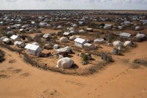 An aerial view shows an extension of the Ifo camp, one of the several refugee settlements in Dadaab, Garissa County, northeastern Kenya, October 7, 2013. REUTERS/Siegfried Modola