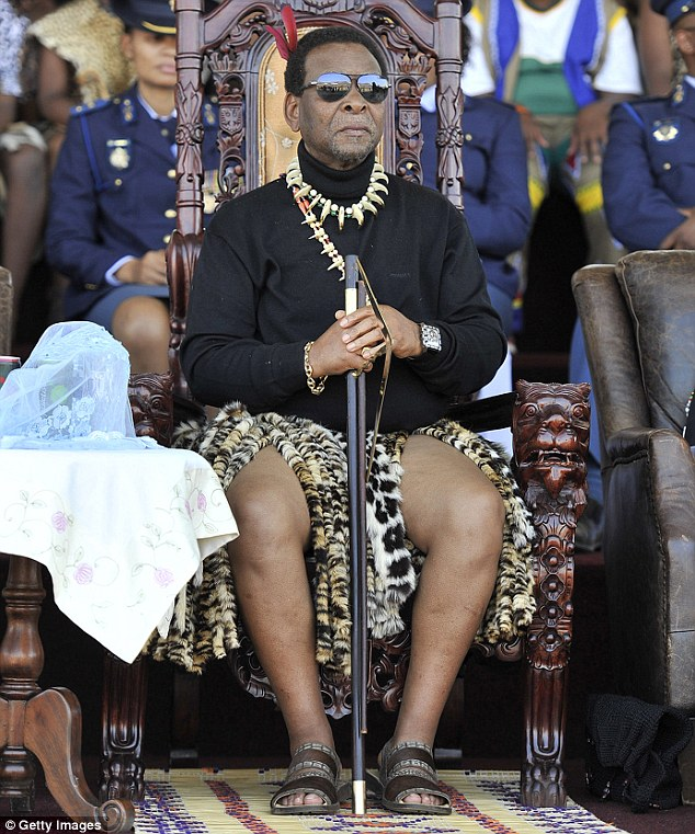 Controversial King Goodwill Zwelithini Pictured Has Been Blamed For Sparking The Xenophobic Riots