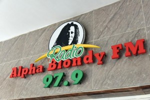 The Alpha Blondy FM radio station is located on the top floor of a small shopping arcade in Abidjan (AFP Photo/Sia Kambou)
