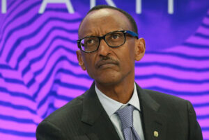 "Rwandan President Paul Kagame said he's ""open to going or not going depending on the interest and future"" of the country. Photographer: Simon Dawson/Bloomberg"