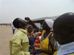Photo: Kingsley Nfor Monde/IRIN The vaccination campaign in full flow in Cameroon's Minawao camp