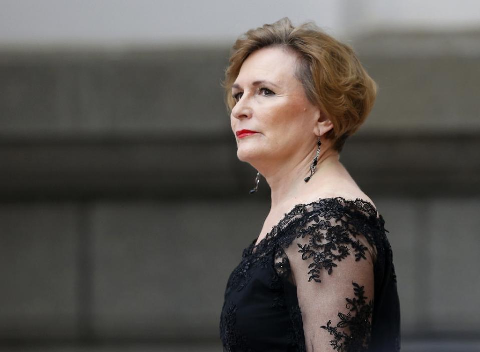 South African leader of the Democratic Alliance Helen Zille seen in Cape Town on February 12, 2015 (AFP Photo/Mike Hutchings)
