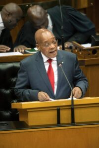 South African President Jacob Zuma has called for calm and an end to attacks on immigrants (AFP Photo/Rodger Bosch)