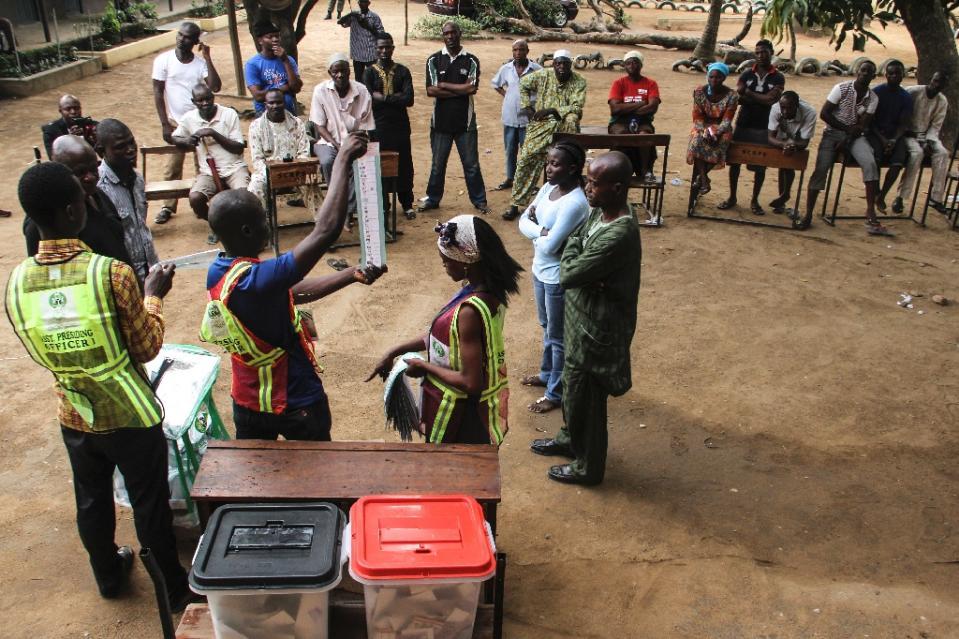 Nigeria's first-ever peaceful transition after elections this week has inspired hopes that it could spark a trend among other African countries where democracy has failed to take hold (AFP Photo/Emmanuel Arewa)
