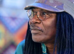 Ivorian reggae legend, Alpha Blondy, pictured during an interview at his radio station Alpha Blondy FM, in Abidjan (AFP Photo/Sia Kambou)
