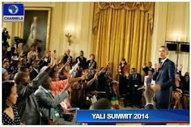 Barack Obama and YALI Fellows