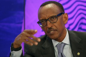 "Rwandan President Paul Kagame, ""like all heads of state who change term limits, wants to give the impression that he would prefer to leave but is reluctantly staying on for the good of his people."" Photographer: Simon Dawson/Bloomberg"