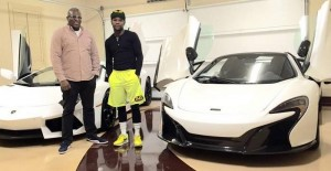Obi Okeke, co-owner of Fusion Luxury Motors, delivered this McLaren 650S, right, to boxer Floyd Mayweather at 3 a.m.