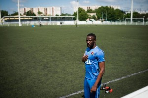 Seydou Cisse, a young Ivorian, plays in the the lower levels of French football, having arrived in 2010 after spending two weeks in Italy where he saw his dreams of playing for Juventus shattered (AFP Photo/Martin Bureau)