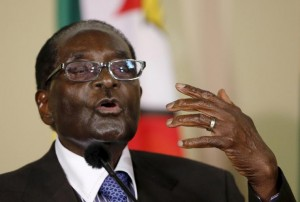 Zimbabwe's President Robert Mugabe speaks during a press briefing on April 8, 2015. A proposal from Zimbabwe's government to make Chinese compulsory in state schools has sparked debate. Reuters/Siphiwe Sibeko
