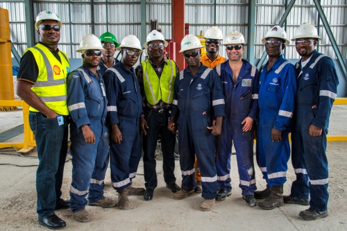 GE Engineers and Technicians in its Oil & Gas facility in Onne, Rivers state