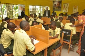 The Western Union Foundation grants equipment and supply to school libraries in Nigeria