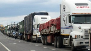 Negotiating borders can be difficult for lorries carrying goods between countries