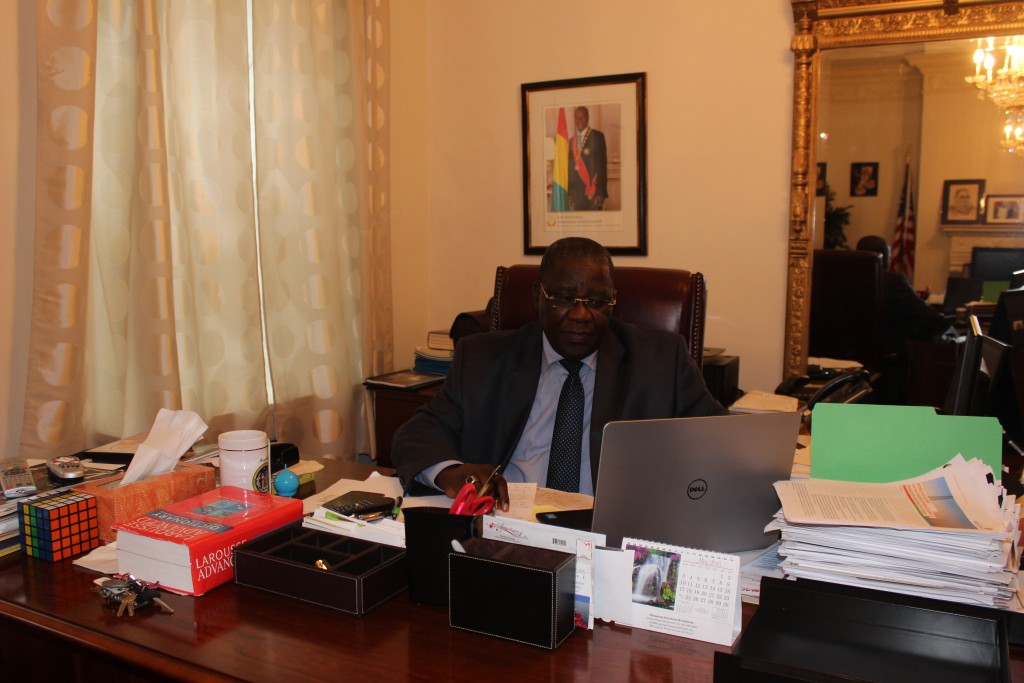 Guinea is on back on the rails says Ambassador Mamady Conde