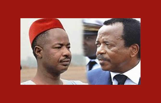 Ahidjo (L) handed over to Biya (r), it defies logic that his remains are still in Senegal after he died in 1989 says Hafis Rüefli