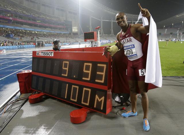 Femi Ogunode at last year's Asian games in South Korea(AP Photo/Lee Jin-man)