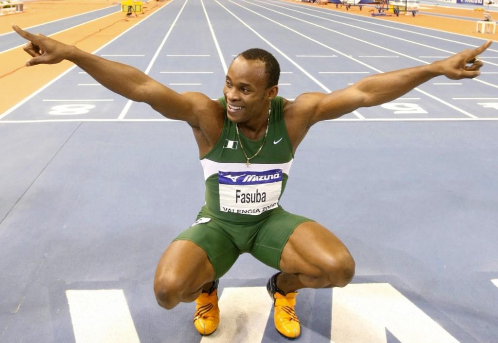 Africa's 100m champion, Olasoji Fasuba (Reuters/Eric Gaillard)