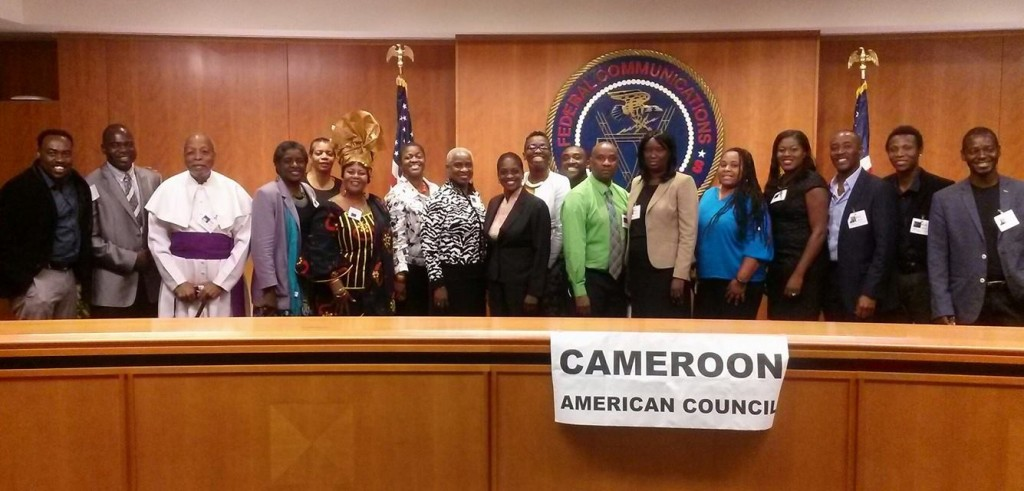 During the 2014 National African Immigrant Legislative Week organized by the Cameroon American Council, African immigrants and allies engaged with the White House, Government agencies such as FCC (Federal Communications Commission), SBA (Small Business Administration) and several Members of Congress. Picture below at the FCC with former FCC Chair Ms. Mignon Clyburn (daughter of  Congressman James Clyburn of South Carolina.