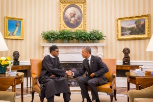 Buhari and USA President meeting at the White House.Picture credit Sahara Reporters
