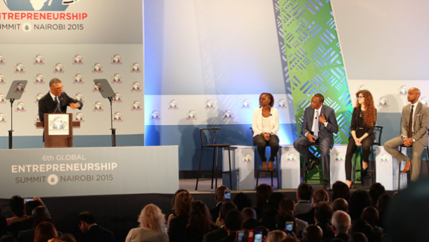 U.S.President Barack Obama at the opening plenary session of the Global Entrepreneurship Summit in Nairobi, Kenya. Photo by: U.S. Embassy Nairobi Photo