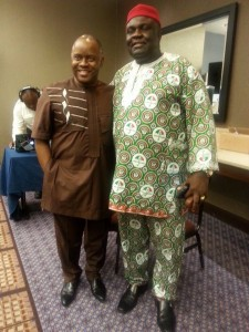Dr Molokwu with Dr Elijah Akpan Executive Chairman of the Akwa Ibom Investment Corporation