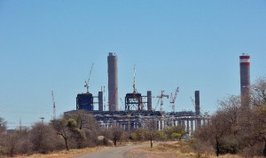 The Medupi station seen under construction on October 7, 2011, outside the northern South African town of Lephalale (AFP Photo/Alexander Joe)