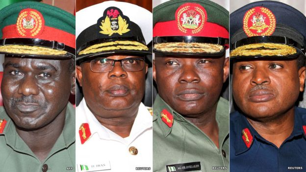 There is now a new line-up of military chiefs tasked with defeating Boko Haram militants