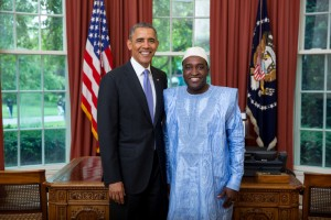 Ambassador Arouna with President Obama at the Oval Office, relations between Benin and the USA are solid he says