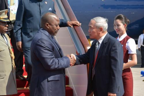 President Kabila arriving in Beijing