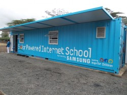 At the Summit Samsung will showcase the Solar Powered Internet School (SPIS) solution