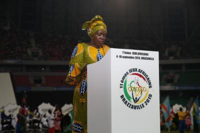 ÄUC Chairperson Dr Nkosazana Dlamini Zuma addresses the opening ceremony of the African Games in Brazzaville, Congo. 4th September 2015