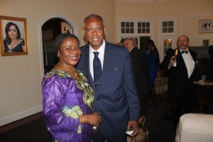 Melvin of the Constituency for Africa with Ambassador Faida
