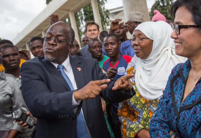 CCM's John Magufuli was an unexpected and arguably accidental choice to be the ruling party's presidential candidate. Photograph by Rob Beechey/World Bank.