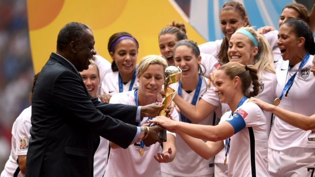 But in other areas Issa Hayatou has been praised - especially his work to boost women's football in Africa