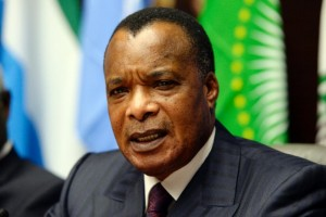 Republic of Congo will hold a referendum on a constitutional amendment allowing President Denis Sassou Nguesso, pictured on March 3, 2015, to run for a controversial third term in office (AFP Photo/Thierry Charlier)