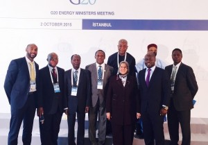 Mamadou Touré with a delegation of Arica energy leaders at the G20 preparatory meetings in Istanbul, Turkey