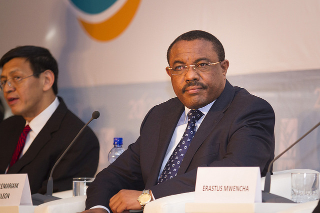 Prime Minister Hailemariam Dessalegn has now begun his second term in office. Photograph by IFPRI -IMAGES.
