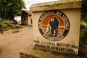 An access to the Virunga National Park is seen near Rutshuru on June 17, 2014 (AFP Photo/Junior D. Kannah)